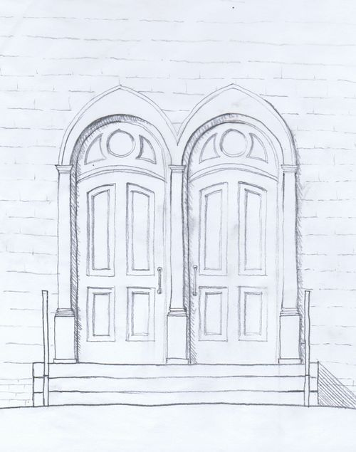 2009-10-05 historic door sketch