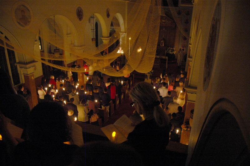 Proclamation of the Exultet in the Light of the Easter Candle