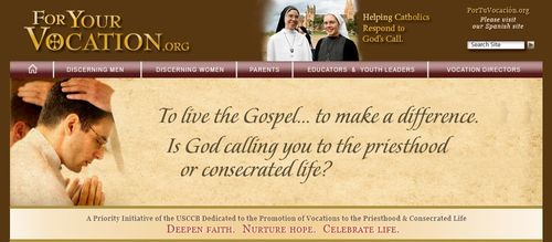 Vocations Webpage of the USCCB