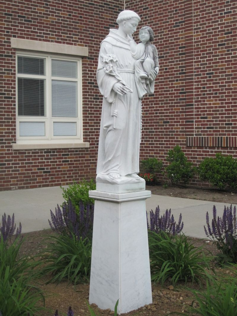 Statue of St. Anthony of Padua with the Infant Jesus