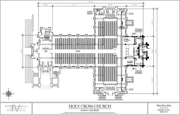 additional schematic diagrams for renovated church  diary