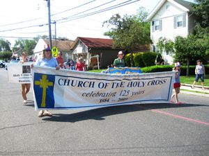Holy Cross Church Banner Memorial Day Parade