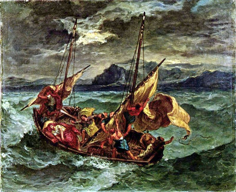 Jesus in Storm at Sea