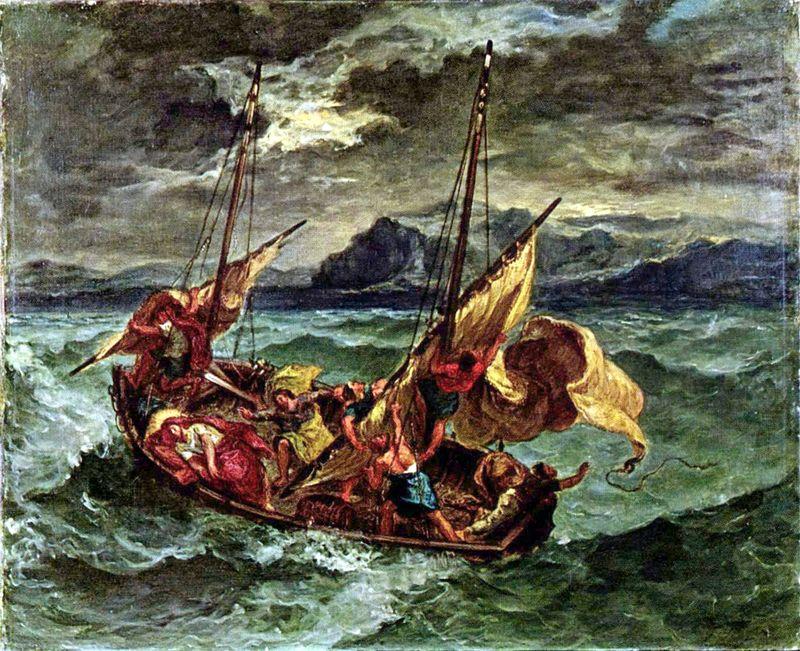 Jesus in Storm at Sea