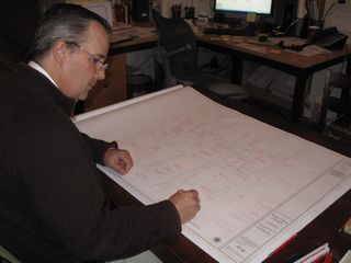 Architect James McCrery with Holy Cross Construction Documents