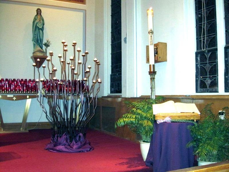 All Souls Day Candles Holy Cross Church
