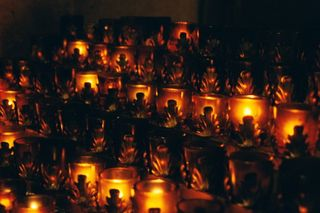 Nightime votive candles