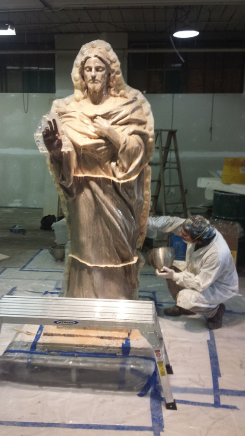 Jesus Calms the Storm wrapped for foundry