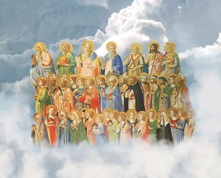 Saints in Heavenly Clouds