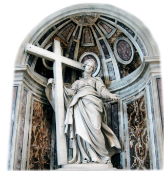 Saint Helena's statue in the Vatican