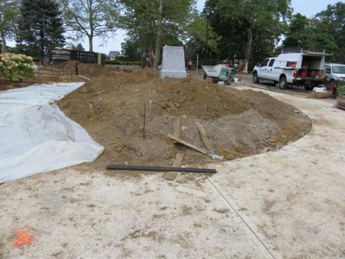 Oval church pathways