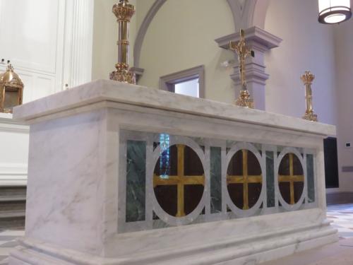 New marble altar