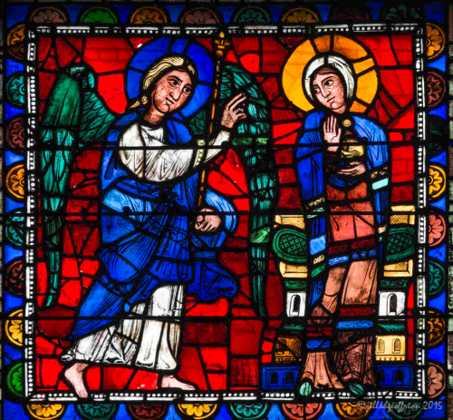 Annunciation Window at Chartres