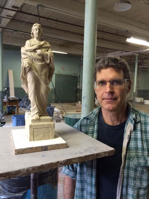 Jesus calms storm maquette Holy Cross
