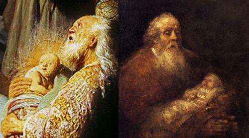 Rembrandt two Simeons