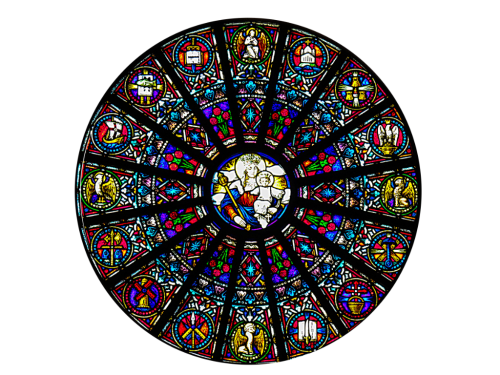 Mary Mother of the Church Stained glass window