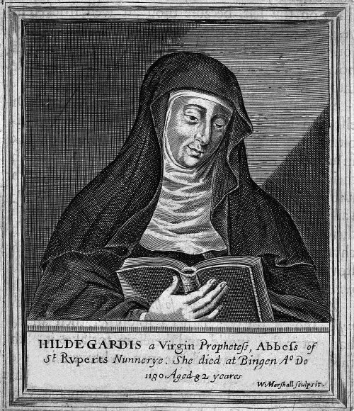 Hildegard_von_Bingen._Line_engraving_by_W._Marshall._Wellcome_V0002761